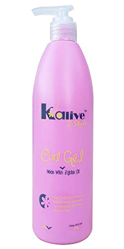 Kalive 2 Style Curl Gel 16 oz Curly hair, Curl Defining, Frizz Free waves natural, curls or perm.