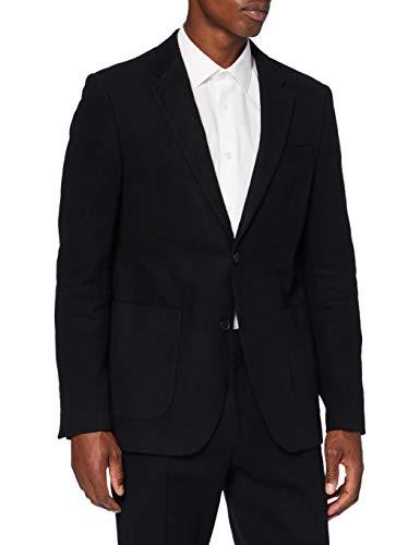 Marca Amazon - find. Americana Casual de Algodón Hombre, Negro (Black), 54, Label: 44