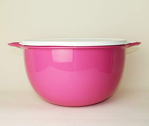 Tupperware Maximilian - Cuenco para mezclar (10 L, tamaño XXL, incluye foto), color rosa
