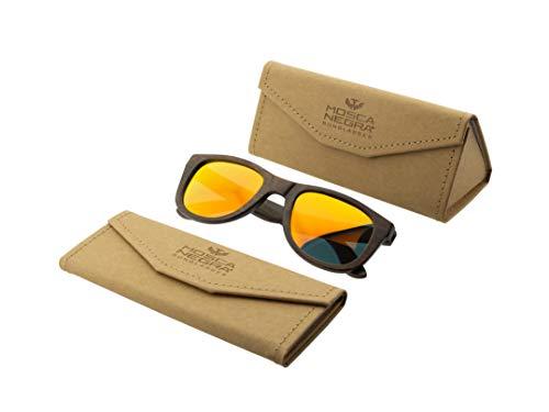 Gafas de sol madera MOSCA NEGRA modelo BROWN BAMBOO and Orange - Polarized - Unisex