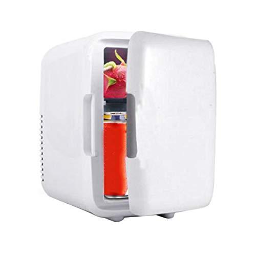 Mini refrigerador refrigerador, congelador portátil para automóvil 4L Mini refrigerador refrigerador Refrigerador para automóvil 12V Calentador enfriador Piezas universales para vehículos (blanco)