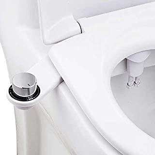 LeSmart Deluxe Bidet Non-Electric Bidet Toilet Attachment w/Self-cleaning Dual Nozzle and Easy Water Pressure Adjustment f...