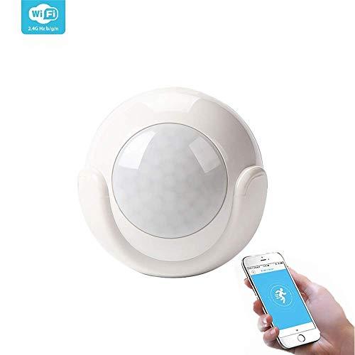 Sensor Detector de Movimiento WiFi Inteligente Inalámbrico Pequeño Sin Cables y aviso vía smartphone, compatible con Smart Life y IFTTT – Smartfy