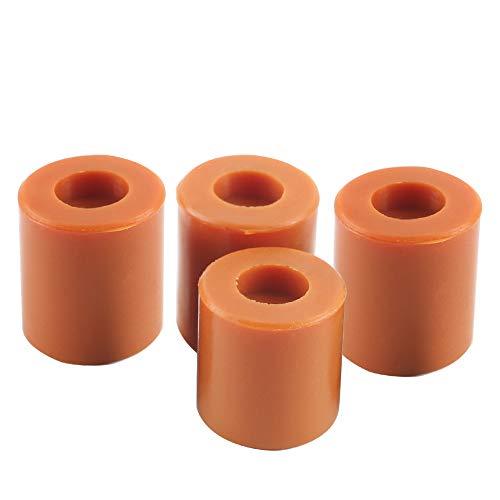 BCZAMD Ender 3 soportes para impresora 3D, 18 mm + 16 mm / 0,7 0,6 pulgadas, amortiguador de silicona resistente al calor, para CR-10 Ender, 3 piezas de base calefactora, 4 piezas, color marrón