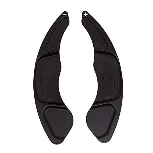 ZHANGJINYAN Nuevo Viaje DE Aluminio VIVIENDO Shift Paddle EXTENSIÓN ESPECTAMIENTO Cambio Ajuste para VW GOLF7 Golf 7 GTI R MK7 Scirocco 2015 Accesorios (Color : Black)