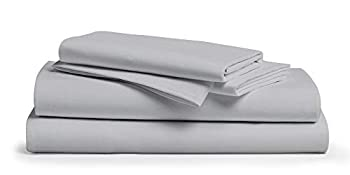 Comfy Sheets 100% Egyptian Cotton Sheets- 1000 Thread Count 4 Pc Queen Sheets Cotton Silver Bed Sheet with Pillowcases Hotel Quality Fits Mattress Up to 18   Deep Pocket.