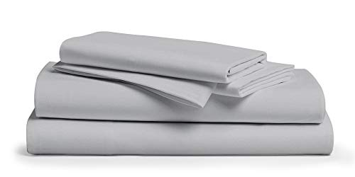 "800 Thread Count 100% Pure Egyptian Cotton – Sateen Weave Premium Bed Sheets, 4- Piece Silver King- Size Luxury Sheet Set, Fits mattresses Upto 18"" deep Pocket"