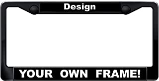 personalized plastic license plate frames