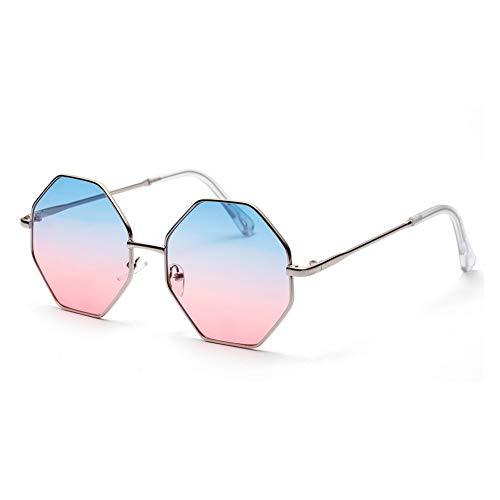 YIERJIU Sonnenbrillen Gradient Lens Sonnenbrille Damen Mode Achteckige Sonnenbrille Luxus Rosa Brillen Frauen Lentes De Sol Mujer,D