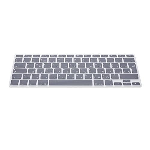 kwmobile Protector de Silicona para Teclado QWERTY (Ruso) - Compatible con Apple MacBook Air 13''/ Pro Retina 13''/ 15'' (de Mediados del 2016) en Gris