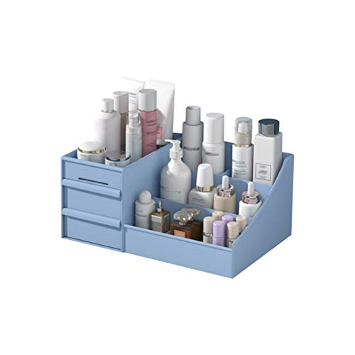 Caja organizadora de maquillaje, de plástico, con cajones organizadores de maquillaje, recipientes, caja de almacenamiento de joyas, de maquillaje, caja de regalo para mujeres