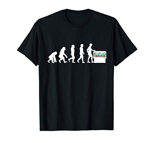 Fische Evolution Aquarium Aquarien Zierfisch Geschenk T-Shirt
