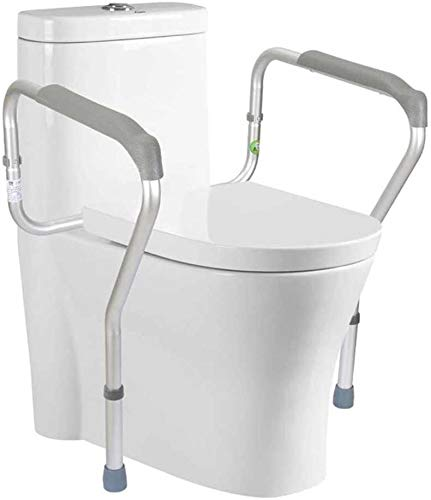 XYQ SD~Toilet Safety Rails Frame with Easy Installation, Bathroom Safety Height Adjustable Legs Toilet for Seniors Elderly Disable Handicap Best,2020.06.03