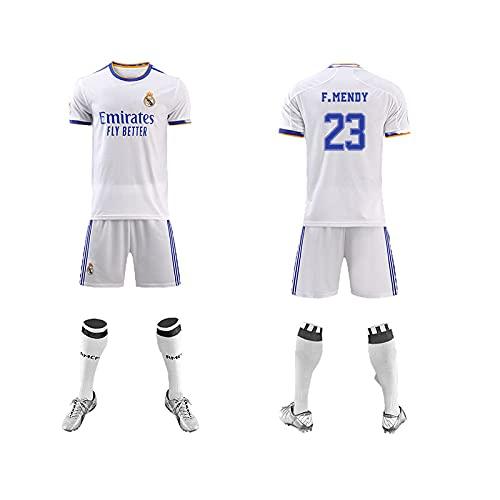 GPOL Camisetas de fútbol para Hombre, Camiseta + Pantalones Cortos + Calcetines, Camiseta con Estampado Rěǎī-Mǎdrid# Ropa de Entrenamiento, Uniforme de fútbol para niños y Adultos Niños / 23# /