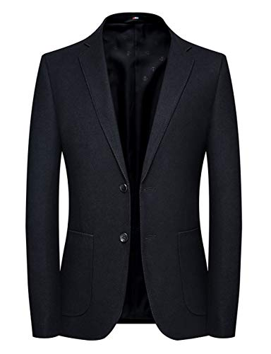 CHOUYATOU 남자 맞춤 맞는 적합 노치 옷깃 배관 블레이저 정장 재킷 스포츠 코트