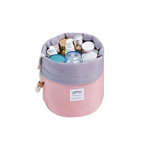 Fossen Neceser de Viaje Bolsas de aseo con Cordón Bolsa de Almacenamiento Organizador de Maquillaje Cosmética Bolsa de Lavado (Rosa)