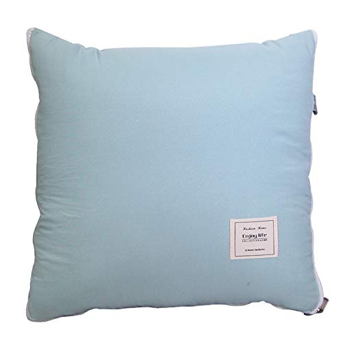 KCCCC Travel Blanket and Pillow Simple Solid Color Washed Cotton Labeling Cushion Office Sofa Pillow Quilt Car Air Conditioning Quilt PremiSoft 2 in 1 Airplane Blanket (Color : Green, Size : 40x40cm)
