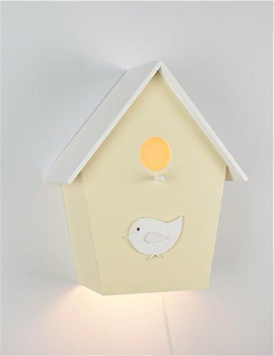 Handgefertigte Kinderlampe Kinderleuchte Wandlampe Vogelhauslampe Handbemalt Handgefertigt