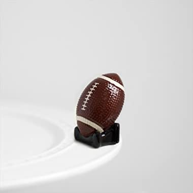 Nora Fleming Football Mini - Touchdown - Hand-Painted Ceramic Charm - A46