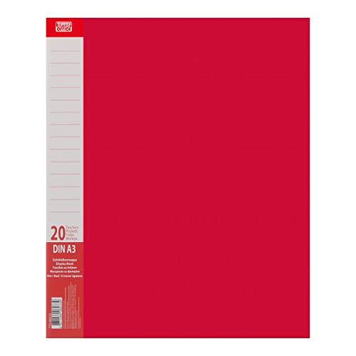 TTO Sichtbuch PP A3 20 Hüllen, Rot