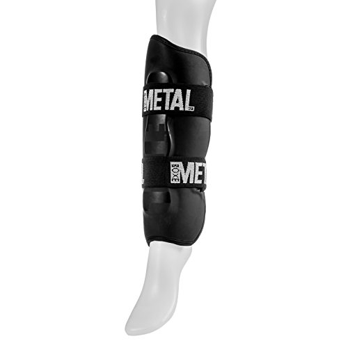 METAL BOXE MB211 - Espinilleras de Boxeo, Color Negro, Talla L