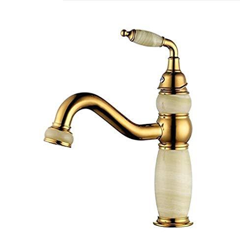 Unterbau Waschbecken Wasserhahn Becken Messing Jade Gold Kalt und Warm Schalter Badezimmer Badewanne Duschbad Rundes Badezimmer Küche Edelstahl