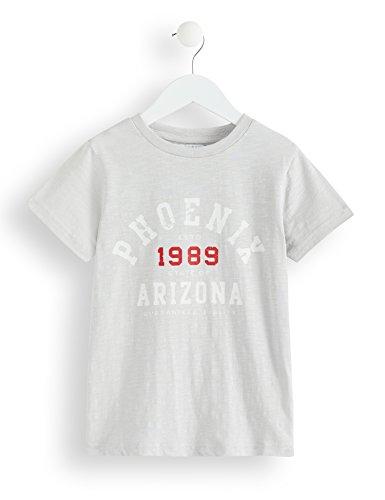 Marchio Amazon - RED WAGON T-shirt in Cotone Girocollo a Manica Corta Bambino, Grigio (Grey), 104, Label:4 Years