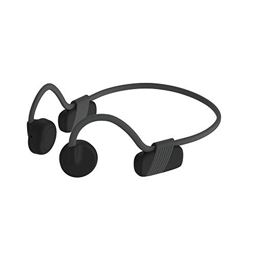 IFECCO Bone Conduction Headphones, Open Ear Wireless Headphones Bluetooth 5.0 with Mic, Waterproof IPX6 Ultra-Lightweight Sport Headsets for Jogging Running Driving Cycling (Black)