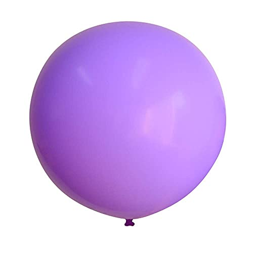 SSCXH 1PC 36inch Rose Red Huge Round Metallic Balloons Wedding Decoration Giant Latex Balloons Birthday Party Kids Toy Big Gold Globos(latex purple)