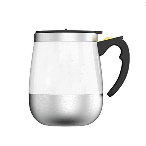 LIANGJIE Taza de mezcla automática Taza de acero inoxidable Taza giratoria creativa magnética eléctrica Taza de café giratoria Taza de leche Taza grande del vientre 400 ml Taza de café creativa B