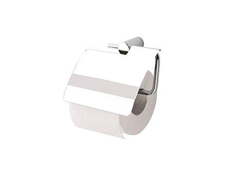OBI Mindora Toilettenpapierhalter Papierhalter mit Deckel Messing Verchromt