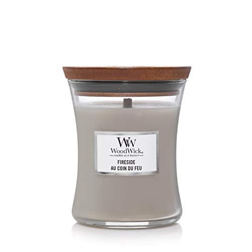 Woodwick Medium Hourglass Scented Candle | Fireside | with Crackling Wick | Burn Time: Up to 60 Hours, Fireside