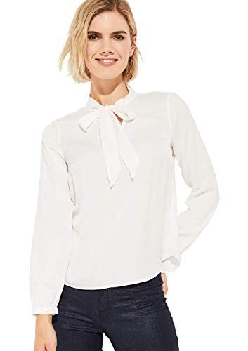 comma Damen Satinbluse mit raffinierten Details White 44