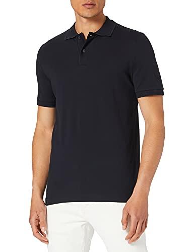Maerz Herren Shirt, Knopf 1/2 Arm Polohemd, Navy, 60