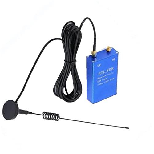 NiceCore USB del Receptor del sintonizador RTL SDR-100 KHz 1,7 GHz Completa Banda UHF UV HF Equipo de Radio-Receptor con Antena Azul