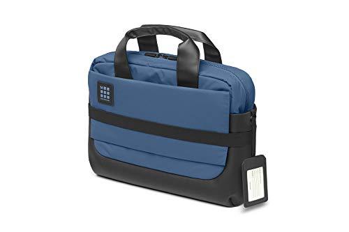 Moleskine, ID Collection, Maletín Ejecutivo Impermeable, Bolsa para Tablet, Portátil, Notebook y iPad de hasta 15'', Dimensiones 40.6 x 13.1 x 29.6 cm, Color Azul Boreal