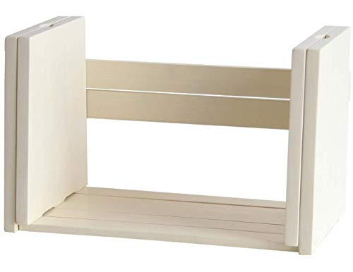 ブックスタンド 卓上 木製 ブックラック しきり 収納 北欧 机上 本立て 伸縮 ホワイト