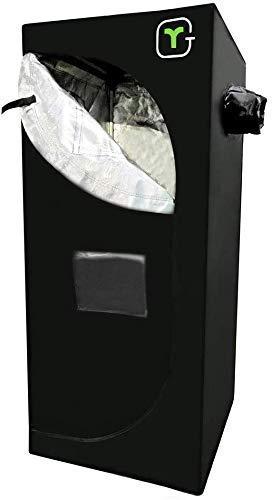 GR Kit Grow Box 60cm x 60cm x 140cm Tende per Piante/Tenda da Coltivazione Idroponica/Grow Room Indoor Stabili Aste in Acciaio Serra da Interno per Piante, Frutta, Fiori e Verdure Nero