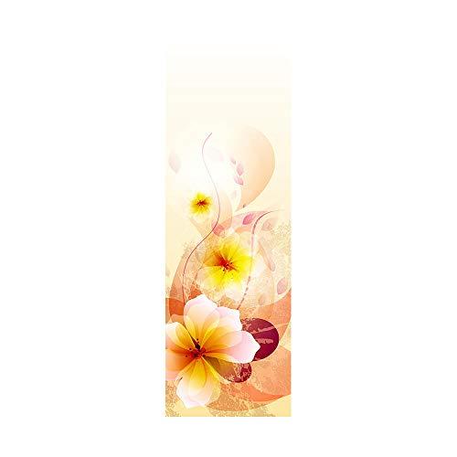 Pegatinas de nevera para cubrir puertas completas 3D Phalaenopsis autoadhesiva para puerta de refrigerador adhesivo profesional vinilo papel pintado 50 x 180 cm (2 unidades)