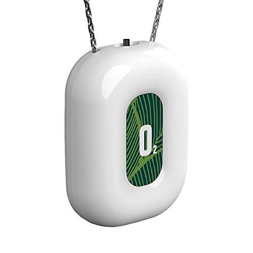 Timagebreze Collar Purificador de Aire Portátil Personal Generador de Iones Negativos Ionizador de Aire Fresco Portátil para Viajes, Blanco