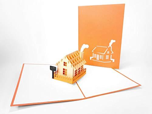 3D-Grußkarte / Geschenkkarte, lasergeschnitten, handgefertigt, Pop-Up-Karte, inkl. Umschlag 2035