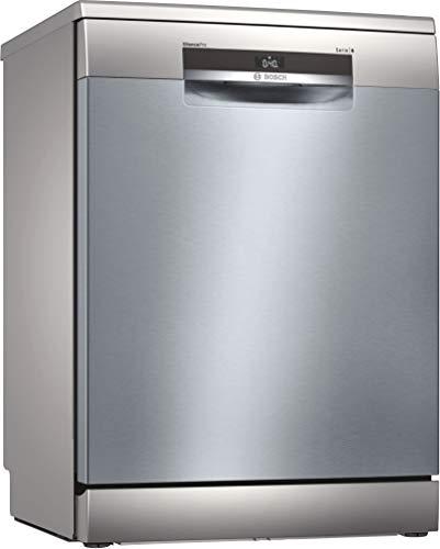 Bosch SMS6ECI07E Serie 6 - Lavavajillas independiente, D, 60 cm, acero inoxidable, 85 kWh/100 ciclos, 14 MGD, SuperSilence, sensor de carga, VarioCajón, Home Connect