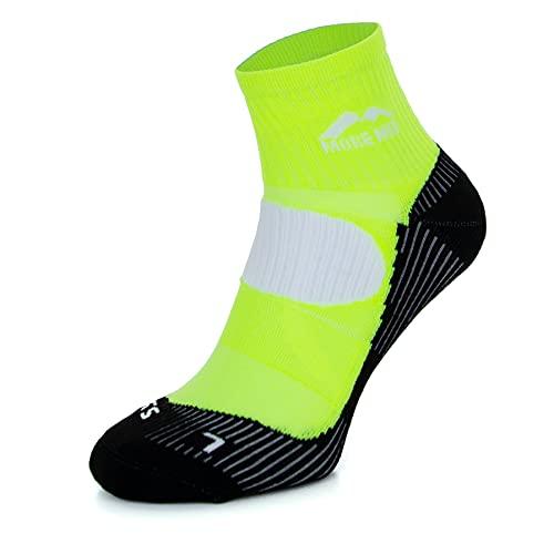 More Mile London (5 Pair Pack) Mens Cushioned Running Socks, Multi-coloured, UK 8.5-10.5