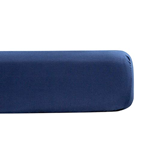 XIAKE Sábana bajera ajustable de microfibra suave, azul marino, 150 x 200 x 25 cm