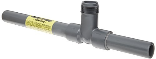 GF Piping Systems PVC Pipe Fitting, Insertion Tee, Schedule 80, Dark Gray, 2 Slip by GF Piping Systems