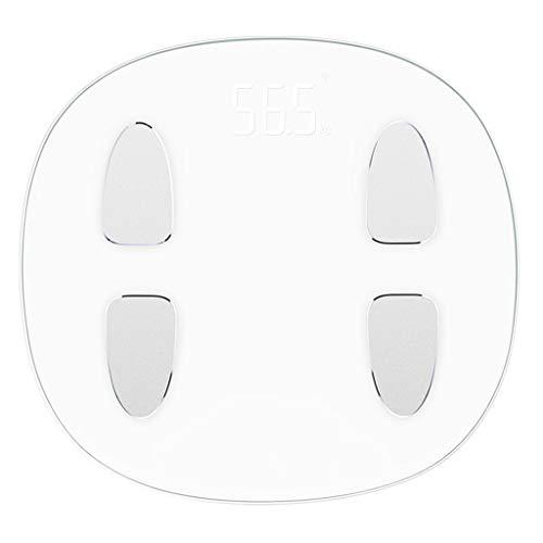 qwe XISABCS Digital Peso Corporal Báscula de baño, 4 mm de Vidrio Templado
