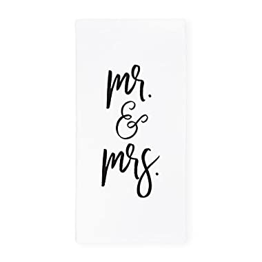 The Cotton & Canvas Co. Mr. & Mrs. Soft and Absorbent Kitchen Tea Towel, Flour Sack Towel and Dish Cloth