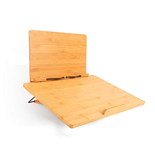 ブックスタンド 抗菌竹製高さ/角度調整可能, 複数の機能ライティングボード書見台 読書台 選べる支えスタンドが折りたたみ式で、持ち運びやすいで, 軽量携帯筆記台子供や高齢者が読んだり勉強したりするのに,L