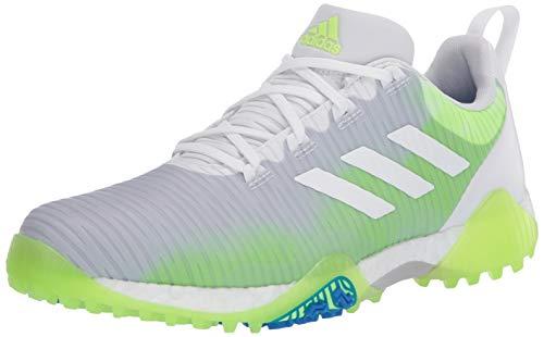 adidas Men's CODECHAOS Golf Shoe, FTWR White/core Black/Signal Green, 7 Medium US