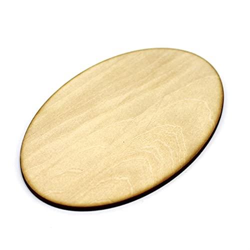 TLBBJ Jouets artisanaux Planche de Bois Ovale 3mm Tilleul Carte de Bois de Bricolage à la Main en Bois décoratif de Planche de Planche de Carton de Dessin en Bois Facile (Color : 150mm 1PCS)